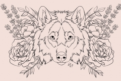 Commissioned Flower Wolf